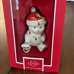 Lenox Tangled Bear Christmas Ornament